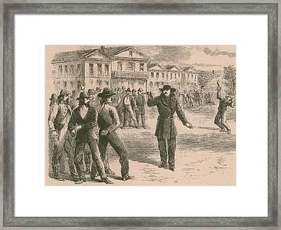 Wild Bill Hickok Was A Gunfighter Framed Print by Everett