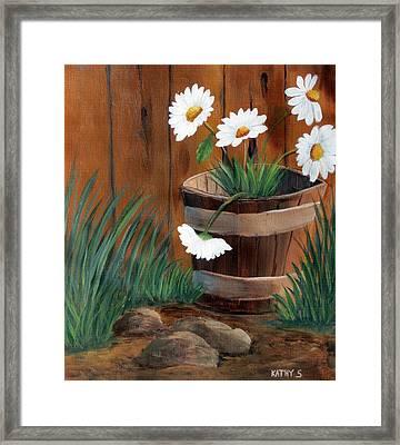 Wild Daisies Framed Print by Kathy Sheeran