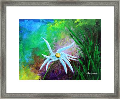 Framed Print featuring the painting Wild Daisy 2 by Kume Bryant