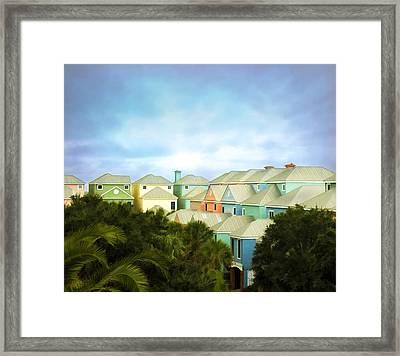 Wild Dunes Rainbow Row Framed Print