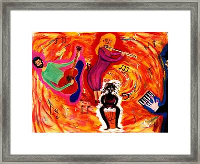 Wild Music Framed Print by Eliezer Sobel