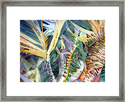 Wild Palm Framed Print by Mindy Newman