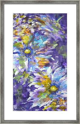 Wild Purple Roses Framed Print