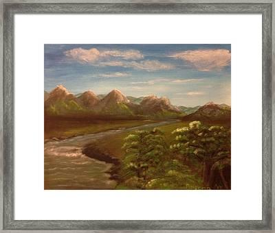 Wild River Framed Print by Bozena Zajaczkowska