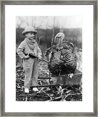 Wild Turkey Framed Print by Archive Photos