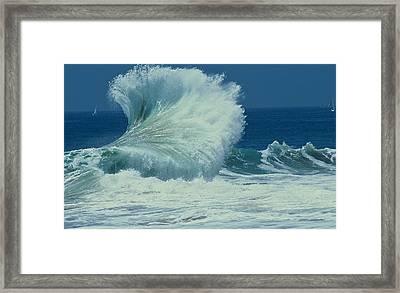 Wild Wave Framed Print