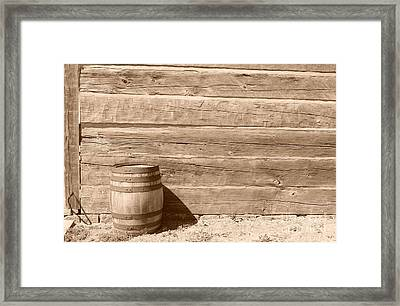 Framed Print featuring the photograph Wild West by Joe  Ng