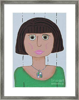 Wild Woman Two Framed Print by Marilyn West