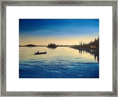Wilderness Camp Framed Print