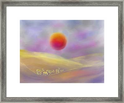 Wildfire Sunrise Framed Print