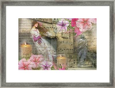Wildflowers In Stone Framed Print