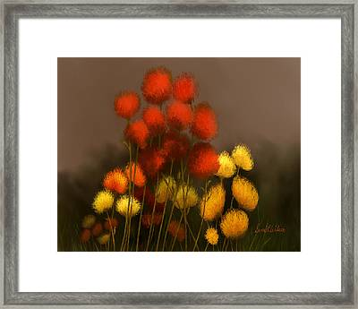 Wildflowers In Symphony Framed Print