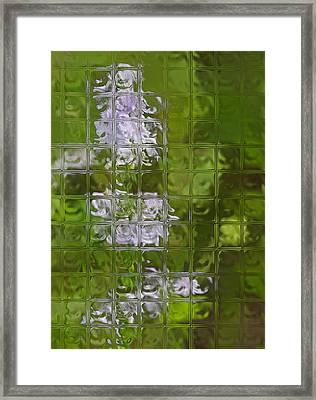 Wildflowers Through Glass Block Wall Framed Print