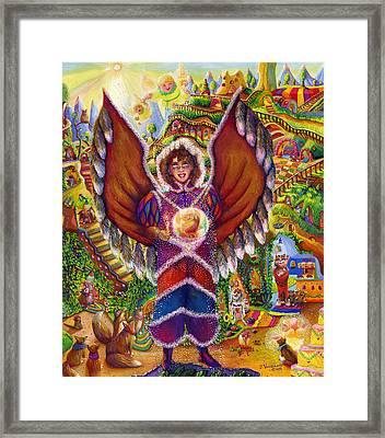 Wildlife Of North America Angel Framed Print by Jacquelin Vanderwood