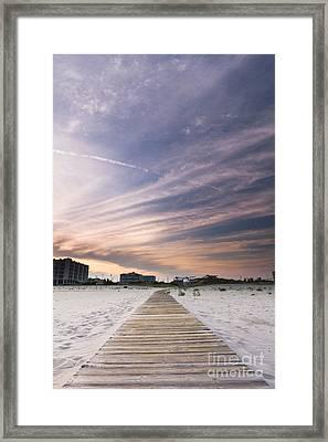 Wildwood Crest New Jersey Sunset Framed Print by Dustin K Ryan