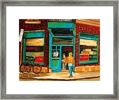 Wilensky's Restaurant Framed Print by Carole Spandau
