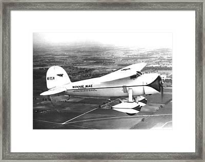 Wiley Posts Plane Winnie Mae Overhauled Framed Print by Everett