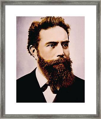 Wilhelm Conrad Rontgen 1845-1923 Framed Print by Everett