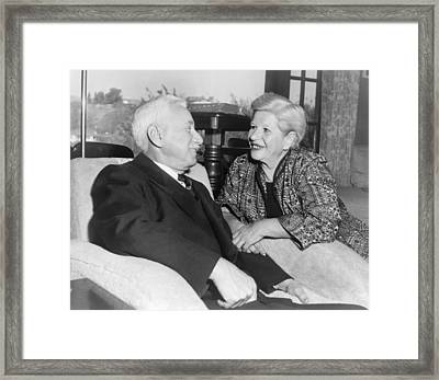Will And Ariel Durant, Husband-and-wife Framed Print by Everett