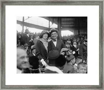 Will Rogers And Mrs. Ed Evalyn Mclean Framed Print