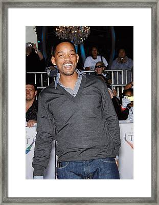 Will Smith At Arrivals For Michael Framed Print by Everett
