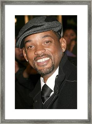 Will Smith At Arrivals For The Day The Framed Print