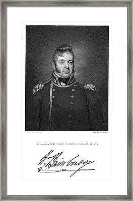 William Bainbridge  (1774-1833). American Naval Officer. Steel Engraving After A Painting, 1814-15, By John Wesley Jarvis Framed Print by Granger