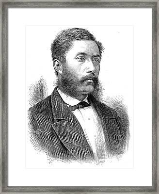 William C. Lunalilo Framed Print by Granger
