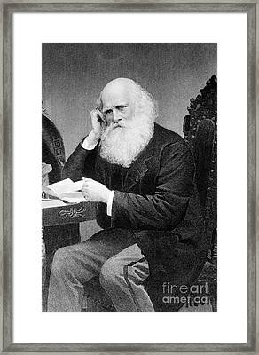 William Cullen Bryant, American Poet Framed Print by Photo Researchers