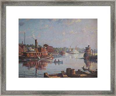 William G Muller Rondout Creek Framed Print
