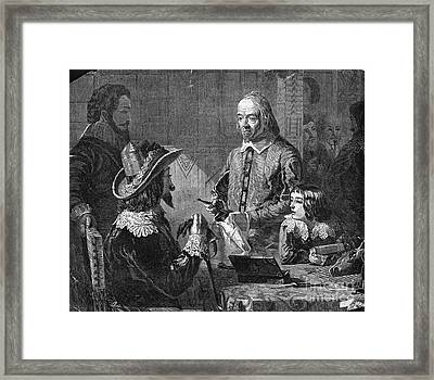 William Harvey, English Physician Framed Print by Photo Researchers