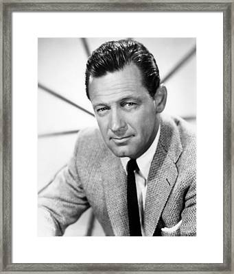 William Holden, 1960 Framed Print by Everett