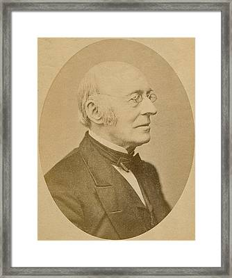 William Lloyd Garrison 1805-1879 Framed Print by Everett