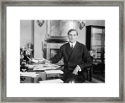 William Mcadoo 1863-1941, Woodrow Framed Print by Everett