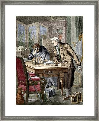 William Nicholson And Anthony Carlisle Framed Print by Sheila Terry