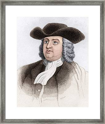 William Penn, English Coloniser Framed Print by Sheila Terry