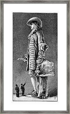 William Penn Statue, 19th Century Framed Print by