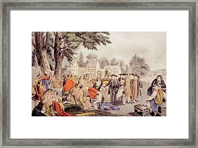 William Penns Treaty With The Indians Framed Print