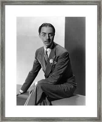 William Powell, Ca. 1930s Framed Print by Everett