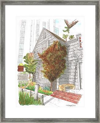 William S. Hart Home, West Hollywood, California Framed Print by Carlos G Groppa