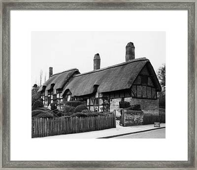 William Shakespeare. Cottage Where Framed Print