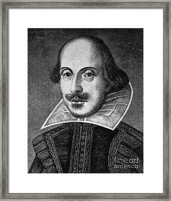 William Shakespeare, English Poet Framed Print