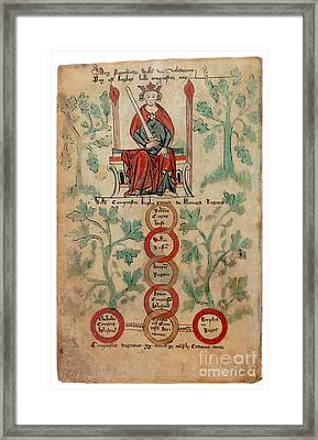 William The Conqueror Family Tree Framed Print by Photo Researchers