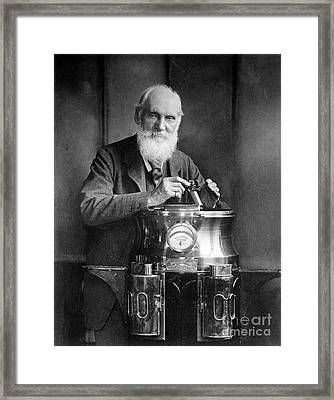William Thomson, Lord Kelvin With His Framed Print by Science Source