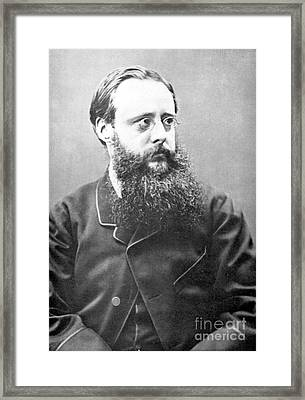 William Wilkie Collins (1824-1889). English Novelist. Photographed In 1865 Framed Print by Granger