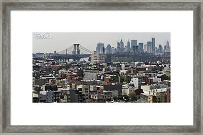 Williamsburg Bridge Framed Print