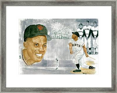 Willie Mays - The Greatest Framed Print
