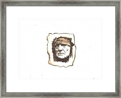 Willie Nelson Framed Print by Clarence Butch Martin