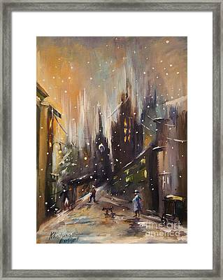 Willige In Winter  Framed Print by Khatuna Buzzell