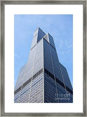 Willis-sears Tower In Chicago Framed Print by Paul Velgos